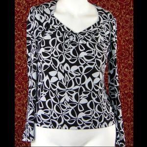 EAST 5th black long sleeve blouse M